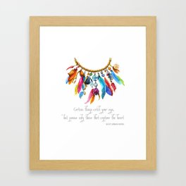 Tribal Adornment Framed Art Print