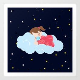Stars at Night , nursery decor Art Print