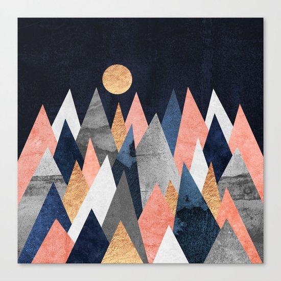 Gold Moon Canvas Print