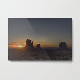 Sunrise at the Monument Metal Print