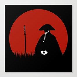 Meditating Samurai Warrior Canvas Print