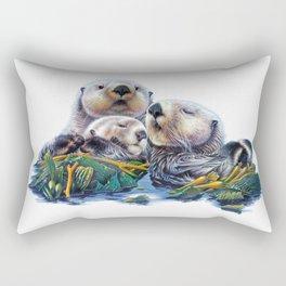 Otter Family Rectangular Pillow