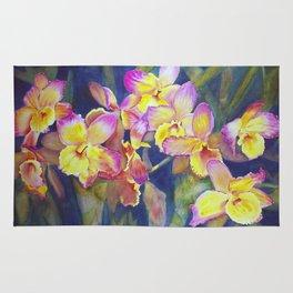 Dendrobium Orchids Rug