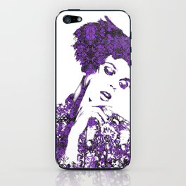 Purple Fashion Floral iPhone Skin