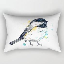 Chickadee - Itty Bitty Chickadee - Watercolor Painting Rectangular Pillow