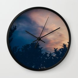 The day is over, new morning begins Wall Clock