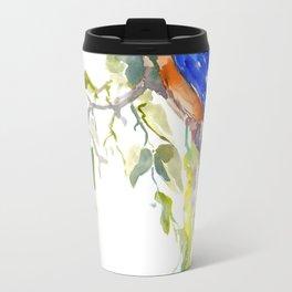 Kingfisher on the Tree Travel Mug