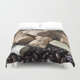COFFEE CHAMPAGNE CORK Duvet Cover