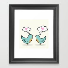 Love Was In The Air Framed Art Print