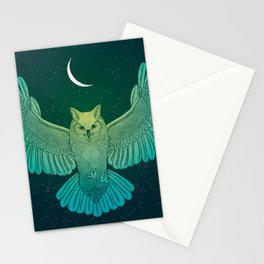 Cosmic Owl Spirit Guide Stationery Cards