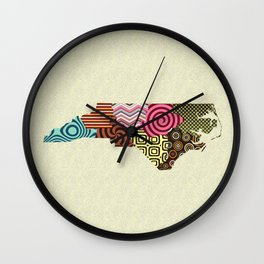 North Carolina State Map Wall Clock