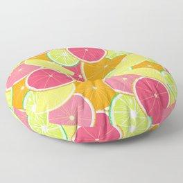 Fresh citrus slice pattern Floor Pillow