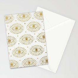 Evil Eyes Gold Stationery Cards