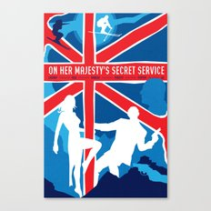 James Bond Golden Era Series :: On Her Majesty's Secret Service Canvas Print