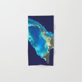 Bahamas, Abaco Islands Satellite Image Hand & Bath Towel