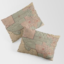 Houston Post map of the great Southwest (1880) Pillow Sham