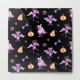 Purple bats Metal Print