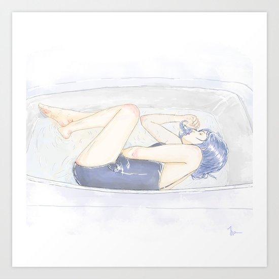 take a bath Art Print