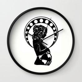 Mother Earth  (art nouveau silhouette) Wall Clock