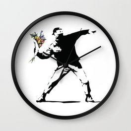 Banksy Flower Thrower Wall Clock