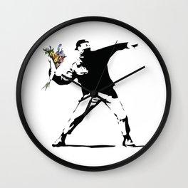 Banksy Flower Thrower Wall Clock