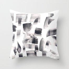 180515 Watercolour Abstract Wp 15 | Watercolor Brush Strokes Throw Pillow
