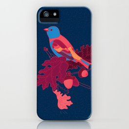 Acorn Branch and Bird iPhone Case