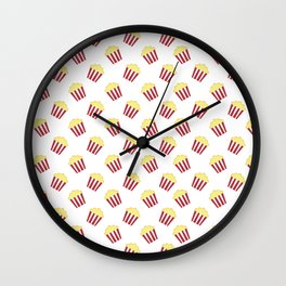 Popcorn Pattern Wall Clock