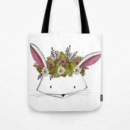 Floral Rabbit Tote Bag