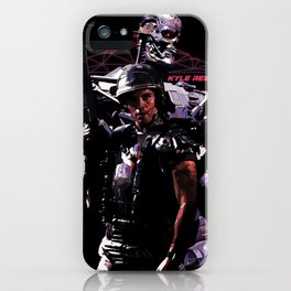Kyle Reese Revenge Aliens Terminator 80s synthwave iPhone Case
