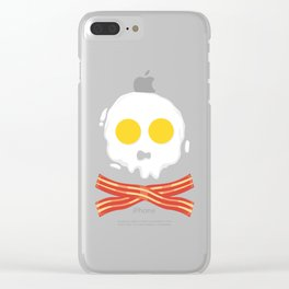 Bacon And Eggs gift idea / present Clear iPhone Case