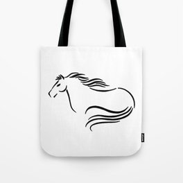 Swift Mare Stylized Inking Tote Bag