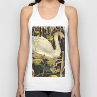 swan queen Tank Tops featuring Swan by Lara Paulussen