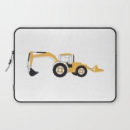 Backhoe Construction Truck Laptop Sleeve