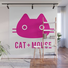 cat + mouse Wall Mural