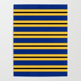 Line design in Barbados colors Poster