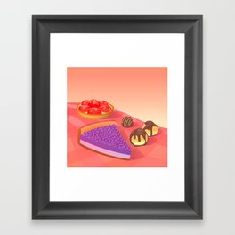 Cream & Berries Framed Art Print