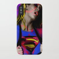 supergirl iPhone & iPod Cases featuring Supergirl by EarlyHuman