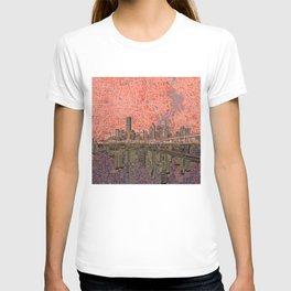 houston city skyline T-shirt