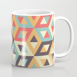 Pastel Geometric Pattern Coffee Mug
