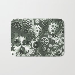 Steel gears Bath Mat