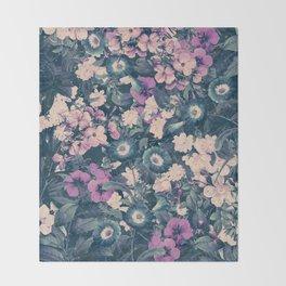 Floral Nights Space Dreams Throw Blanket
