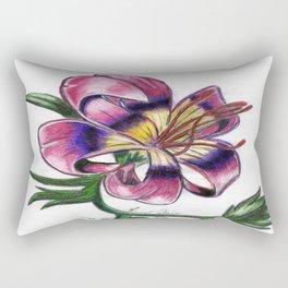 Exotic Lily Flower Rectangular Pillow