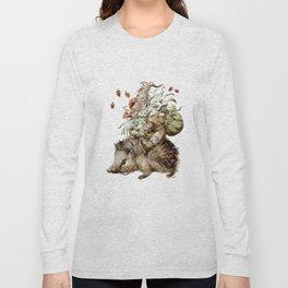 Forest Gnome by Anna Helena Szymborska Long Sleeve T-shirt