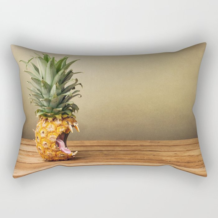 Pineapple is hungry Rectangular Pillow