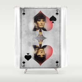 Queen of Spades Shower Curtain