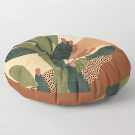 Prickly Pear Cactus Floor Pillow