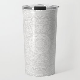 Mandala Soft Gray Travel Mug