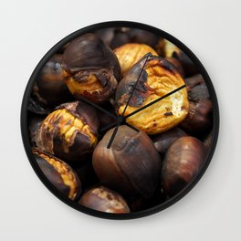 Food. Roasted chestnuts. Wall Clock