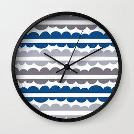 Mordidas Lapis Blue Wall Clock